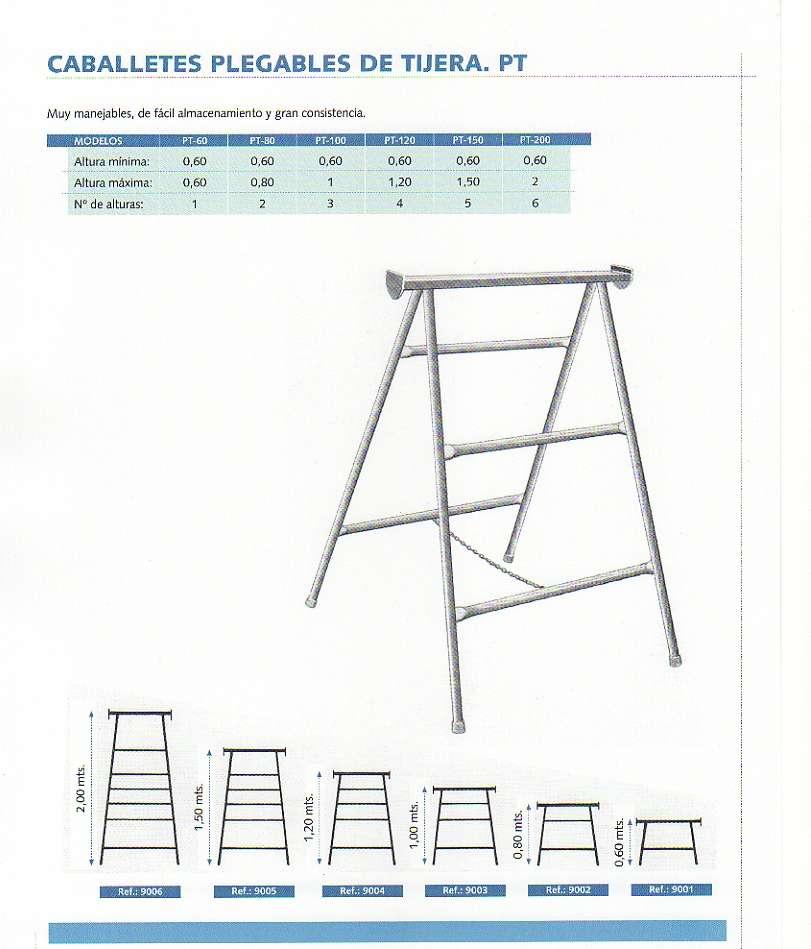Utiles de construccion for Caballetes metalicos